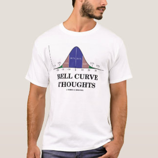 Bell Curve Thoughts (Statistics Attitude) T-Shirt