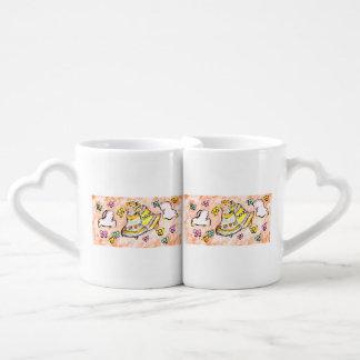 bell dove bow coffee mug set
