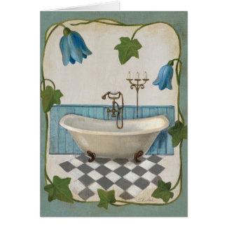 Bell Flower Bath Card