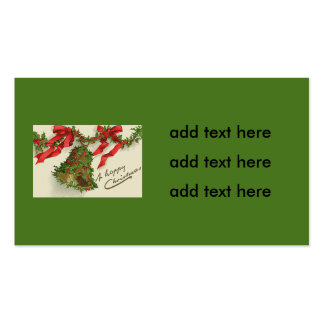 Bell Holly Red Ribbon Berry Garland Pack Of Standard Business Cards