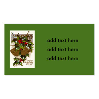 Bell Holly Snow Gold Horseshoe Pack Of Standard Business Cards