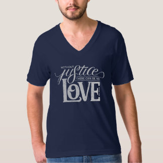 bell hooks Without Justice Unisex Navy V-Neck T-Shirt