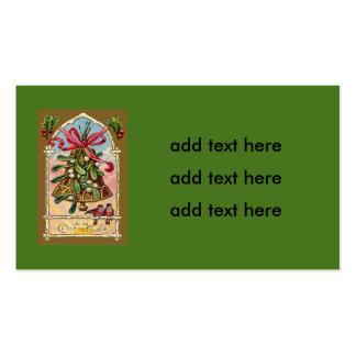 Bell Mistletoe Holly Christmas Bird Pack Of Standard Business Cards