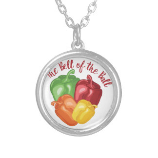 Bell Of Ball Silver Plated Necklace