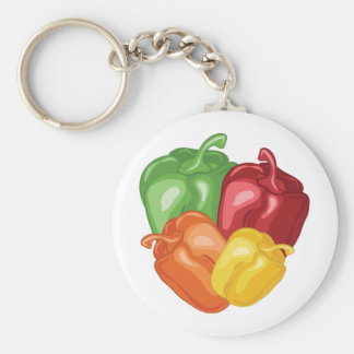 Bell Peppers Key Ring