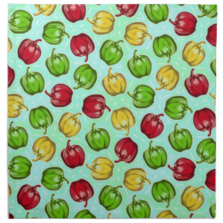 Bell Peppers Pattern Cloth Napkins