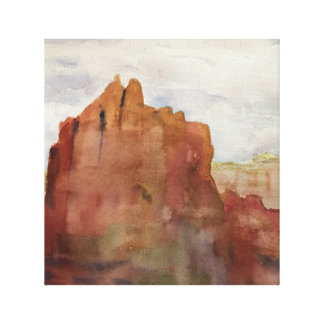 Bell Rock, Sedona, AZ - Watercolor print on Canvas