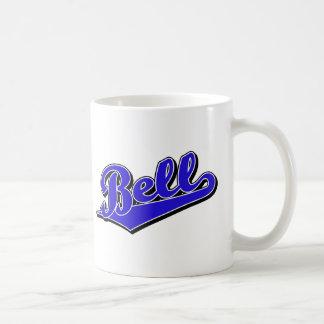 Bell script logo in Blue Coffee Mug