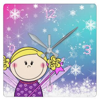 Bell - small princess - snow flakes and ASTRE Wallclocks