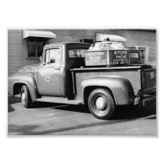 Bell Telephone Ad Truck 1950's Dyersburg Jackson T Photograph