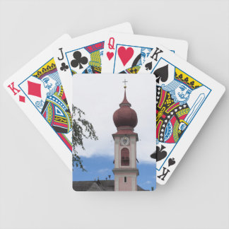 Bell tower, parish church . Ortisei, Val Gardena Bicycle Playing Cards