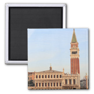 Bell Tower, Piazza San Marco, Venice Square Magnet