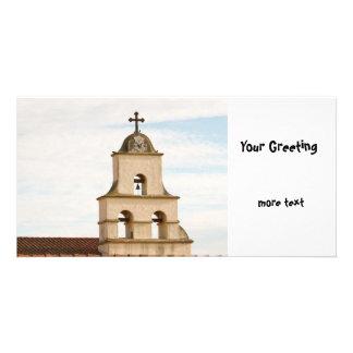 Bell Tower Santa Barbara Mission Personalised Photo Card