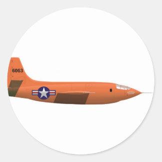 Bell X-1 Rocket plane Round Sticker