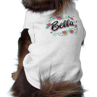 Bella - Airbrushed with Pink Flowers Shirt