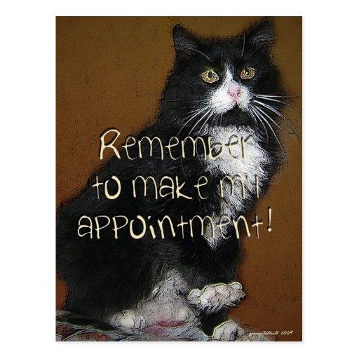 Bella appointment reminder postcard