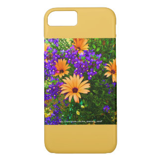 Bella Blue and Orange iPhone 7 Case Yellow Accent