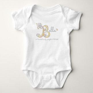 Bella girls B name meaning monogram baby clothes Baby Bodysuit