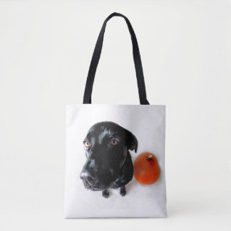 Bella the Black Lab Tote Bag