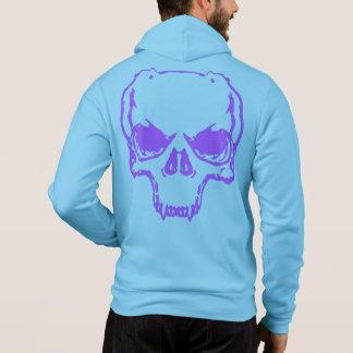 Bella Zip-Up Hoodie Skull duplicate blue