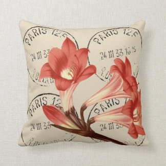 Belladonna Lily Redouté Illustration Cushion