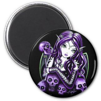 Belladonna Purple Skull Fairy Magnet