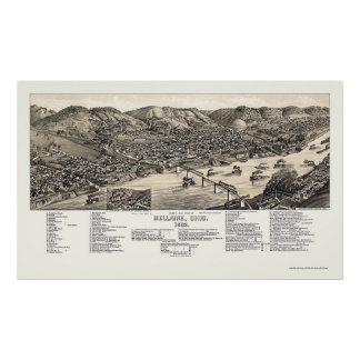 Bellaire, OH Panoramic Map - 1882 Poster