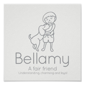 Bellamy friendship name meaning custom kids poster