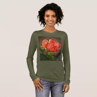 Bella's Long Sleeve Tee - Cactus Bloom in Red