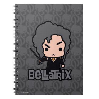 Bellatrix Cartoon Character Art Notebooks