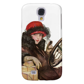 Belle a vintage lady Christmas shopping Samsung Galaxy S4 Cover