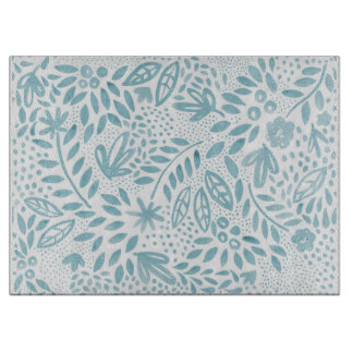 Belle Blue Floral Chopping board