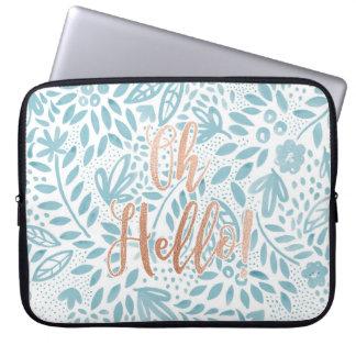 Belle Blue 'Oh Hello' Laptop Case