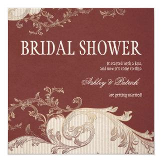 Belle Epoque Bridal Shower 13 Cm X 13 Cm Square Invitation Card