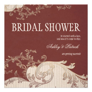 Belle Epoque Bridal Shower Personalized Announcement