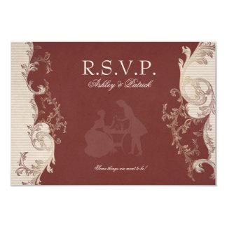 Belle Epoque RSVP 9 Cm X 13 Cm Invitation Card