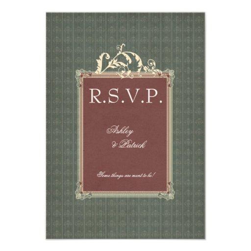 Belle Epoque RSVP Custom Invitations