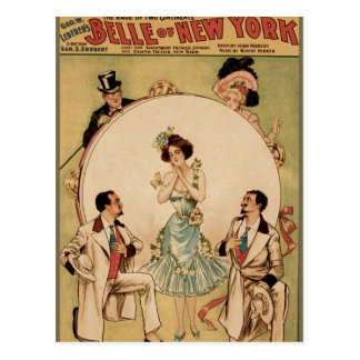 Belle of New York Postcard