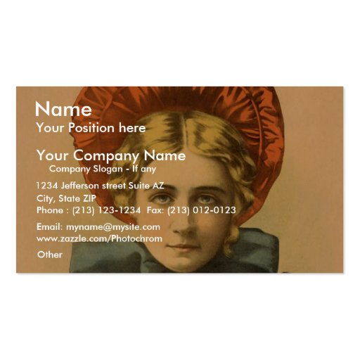 Belle of new york, 'The Rage of London' Vintage Th Business Card Template