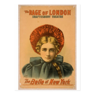 Belle of new york, 'The Rage of London' Vintage Th Postcard