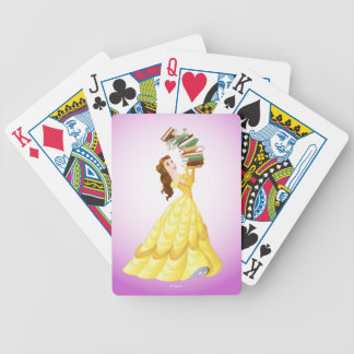 Belle   Stack Of Books Bicycle Playing Cards