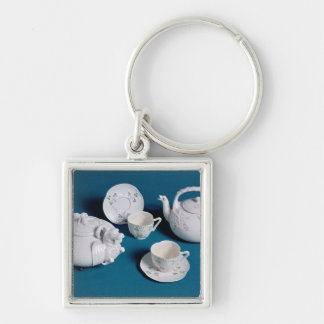 Belleek tea service key ring