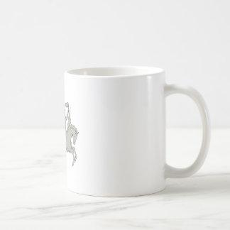Bellerophon Riding Pegasus Holding Torch Drawing Coffee Mug