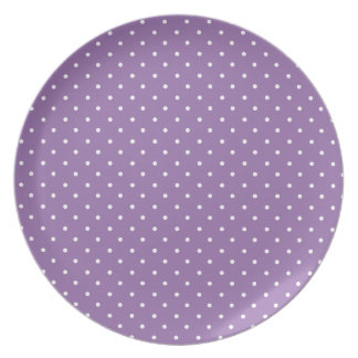 Bellflower-And-White-Polka-Dots Party Plate