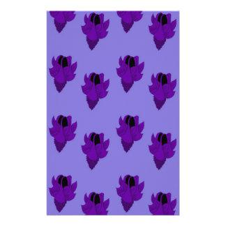Bellflower purple personalised stationery