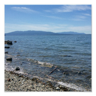 Bellingham Bay beach at Boulevard Park PNW Poster