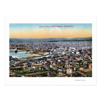 Bellingham, Washington - Aerial of City Postcard