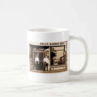 Bell's Barber Shop Vintage Americana Basic White Mug