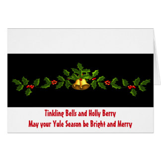 Bells & Berry Yule Christmas Card