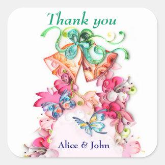Bells&Butterflies thank you stickers